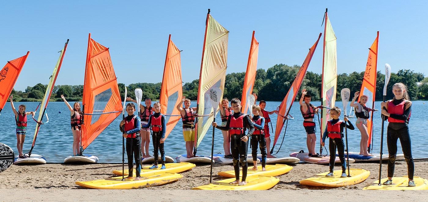 Pelican School Kamp Windsurfen en Watergames